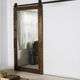 Wooden Mirror Barn Door With Top Track
