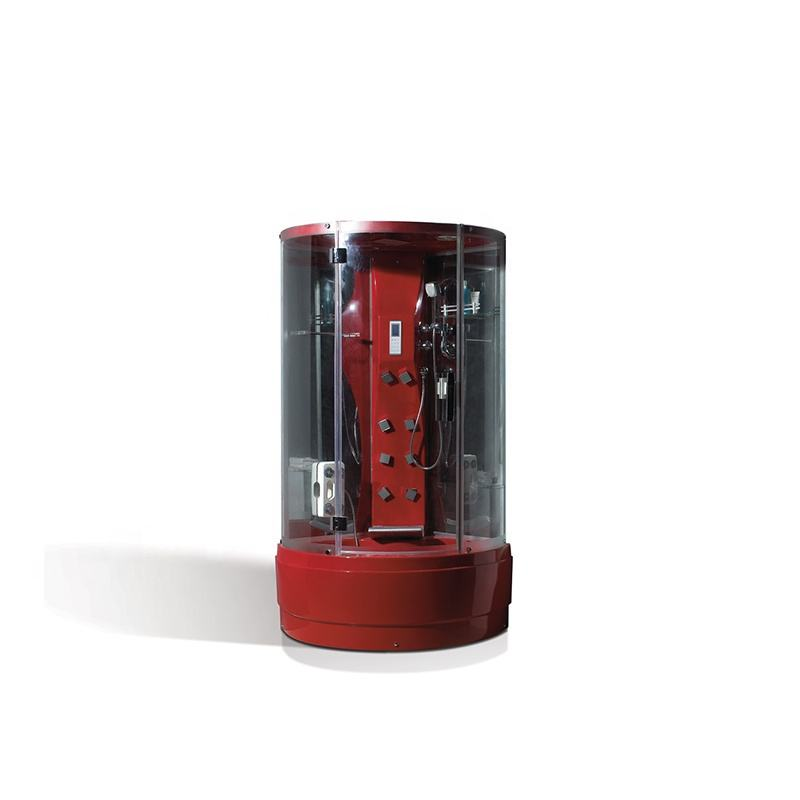 Red color acrylic material Abs back LED light massage top cover shower steam cabin box room with soaking