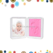 New baby clay handprint kit pink imprint frame keepsake gift