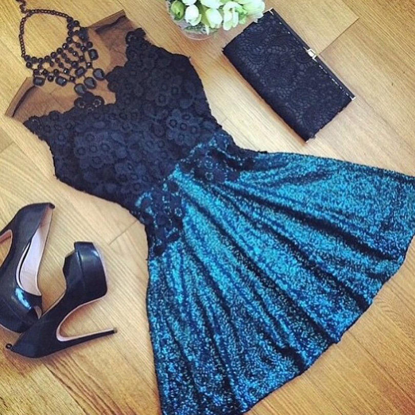 B10121A ebay wholesale woman short lace dress pretty party dress
