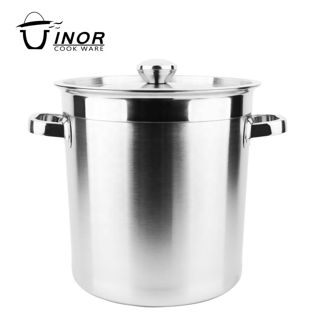 new restaurant kitchenware silver large cooking pots with handle