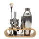 Bartender Kit 10pcs Cocktail Shaker Set Bar Tool Set With Bamboo Stand