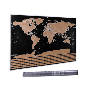 Interesting Gift Scratch Off Travel Map World For Remembering Every Tour