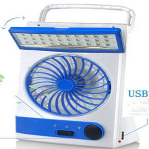 Mini rechargeable solar powered battery operated fan