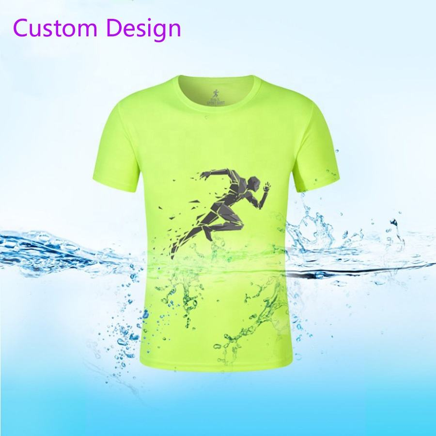 Wholesale cheap price Marathon Running Race Events T Shirt Men's Sport 100% Polyester Dry Fit Breathable Running Tee