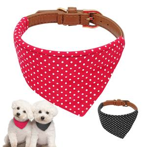 Berry 2019 Novo Design de Moda Couro PU Pet Dog Collar Bandana
