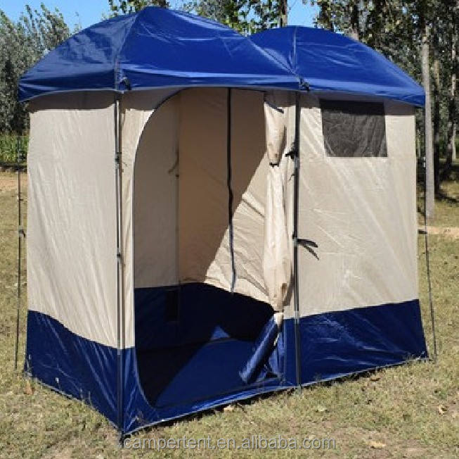 Double people Portable shelter camping changing toilet room camouflage outdoor privacy