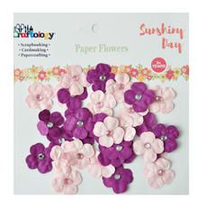 Clover Paper Flower For Mini Embellishment Craft Scrapbook Decorate