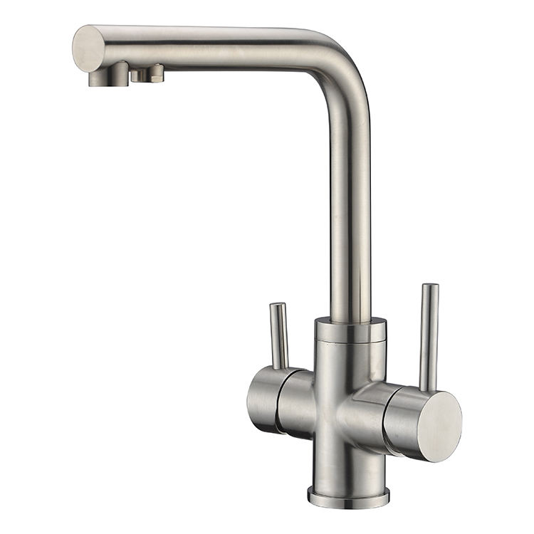Modern 3 three Way SUS304 Stainless Steel OR Faucet Mounted Water Filter Kitchen Taps Faucet Tap For Water Filter