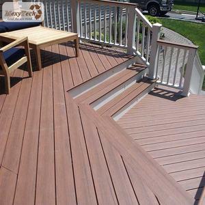 WPC composite outdoor decking / terrace flooring/ solid hard wood board