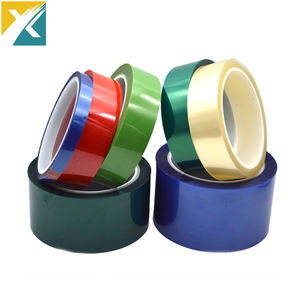 Cinta Adhesiva Poliester Blue Tape For Powder Coating Polyester High Temp Adhesive Green PET Silicone Masking Tape PCB Solder