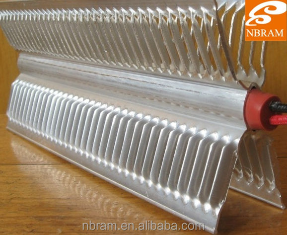 X shape convector heating element