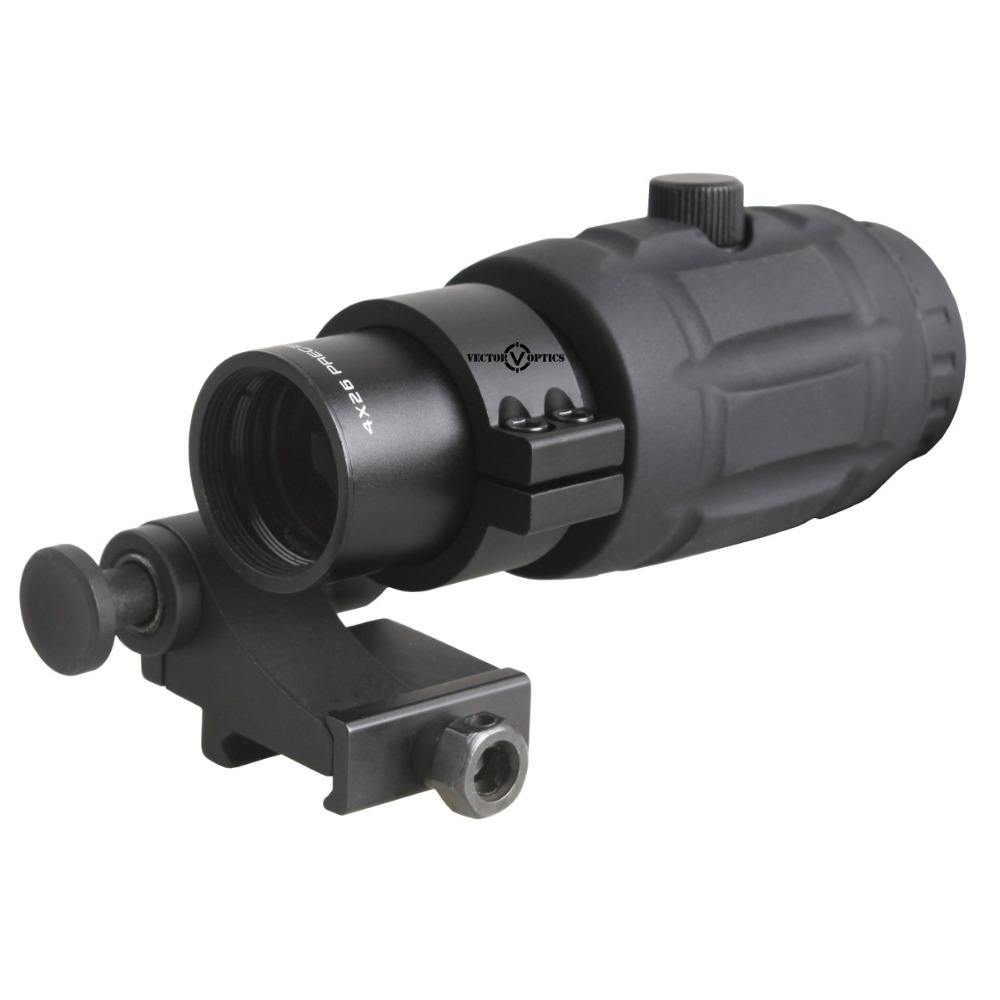 Vector Optics Red Dot Scope Regolabile lente di Ingrandimento 5x Red Dot Sight w/Flip Side Mount per vedere red dot scopes
