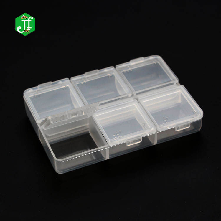 6 Compartments Mini Storage Removable Pocket medic plastic pill box , travel pill bottle case