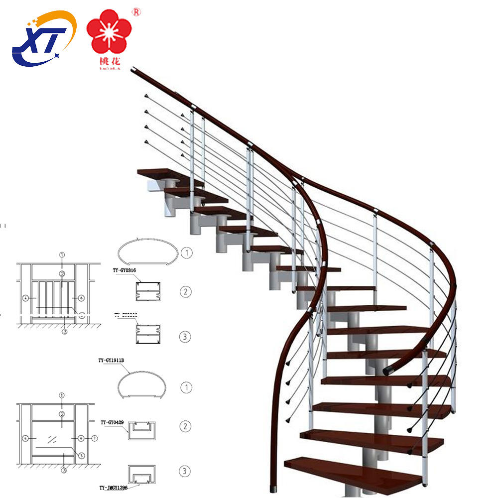 aluminum railing fitting pipe connector polish pipe fittings aluminum handrail for stairs