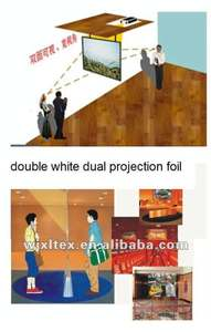 360 rear and front(dual)Projection Screen Foil(for advertise,double white color)