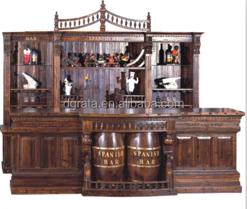 2019 New design high quality bar house bar counter is used by solid wood with painting to be finished for home