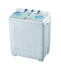 Glass lid 6.5kg washing machine with two washer