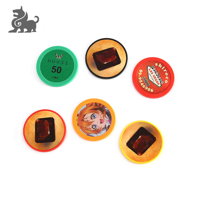 Plastic poker chips for board game made in China