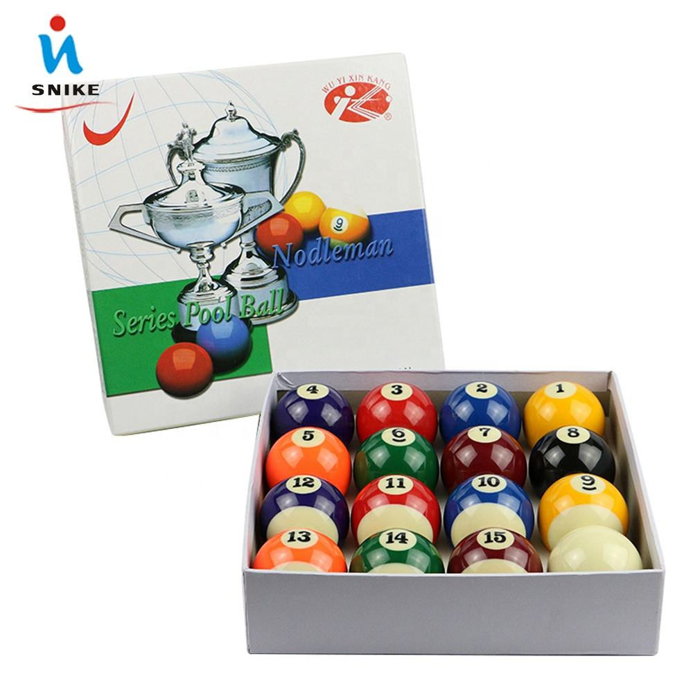 "Cheap Wholesale Coin operated Table Balls 2-1/4"" Resin Billiard Pool Ball Set"