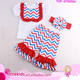 Summer New Fashion Western Baby Girl Boutique Outfit American 4th of July Holiday Kids Clothes