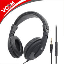 China New Colorful Private Label Computer PC Headphone Wired Head Set mobile Headphones with Mic
