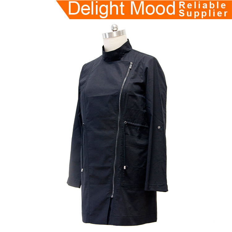 Hot sale eco-friendly best down all weather black trench coat women's