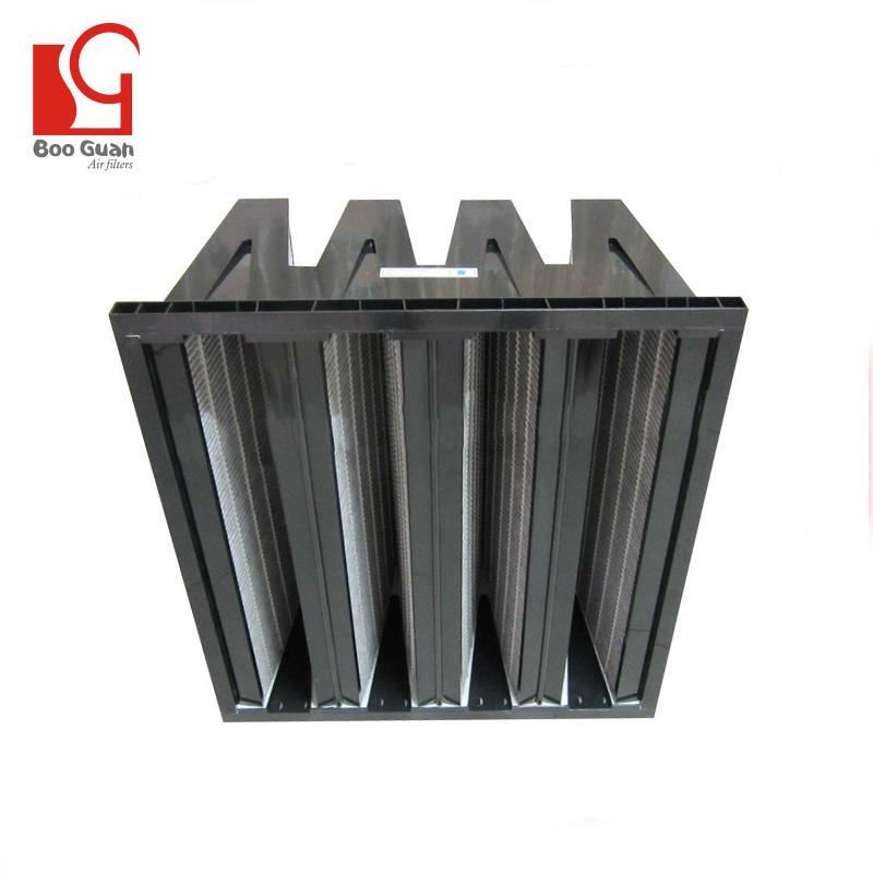 99% air purge V type carbon activated charcoal filter