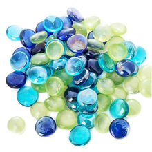 wholesale bulk colored decorative glass stone beads for home decoration