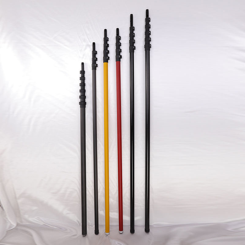 12m 15m High Standard Carbon Fiber Telescopic Pole Use For Vacuum Gutter Cleaning Pole