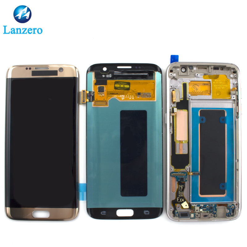 Original LCD display For Samsung Galaxy S7 edge LCD with frame G935F LCD touch screen Digitizer