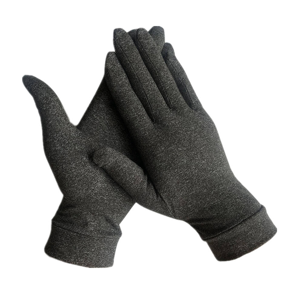 gray wear-resisting copper compression gloves