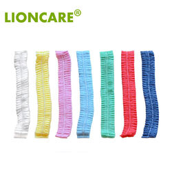 Colorful Nonwoven Clip Cap Disposable Mob Caps Disposable Hair Net