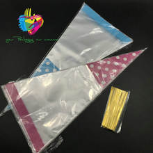 2018 Triangle-shaped plastic opp packaging candy cone cello bags