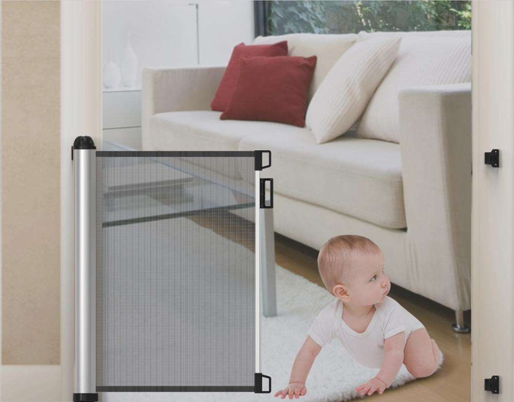 Baby safety products steel tube child safety gate