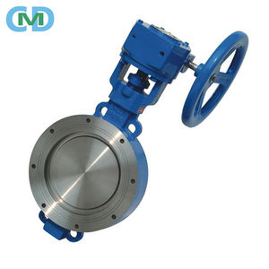 A216 WCB Triple Eccentric Metal Seat 10 Inch 24 150LB Manual Wafer Butterfly Valve