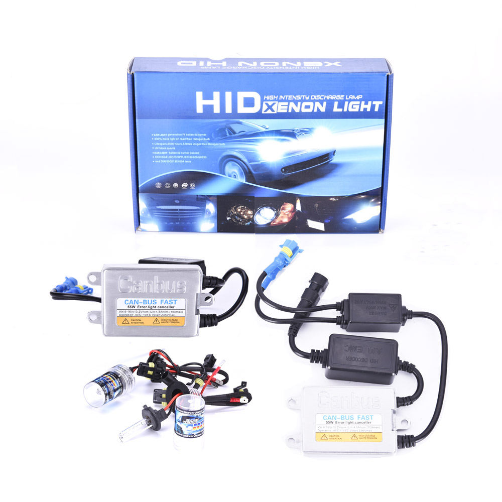 Più nuovo 55 w Canbus Slim Hid Kit Auto Canbus kit Xenon Hid H3c H7c H7r H7 H11