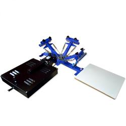 Dryer Screen Printing Press DIY Equipment Printer Machine with Three Color One Station Table Type Single Wheel