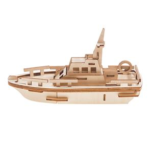 Kids Puzzle Boat Model Wooden Craft DIY