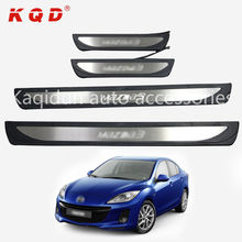 Exterior Accessories supplier hot selling OEM door sill with LED for mazda 3 Axela
