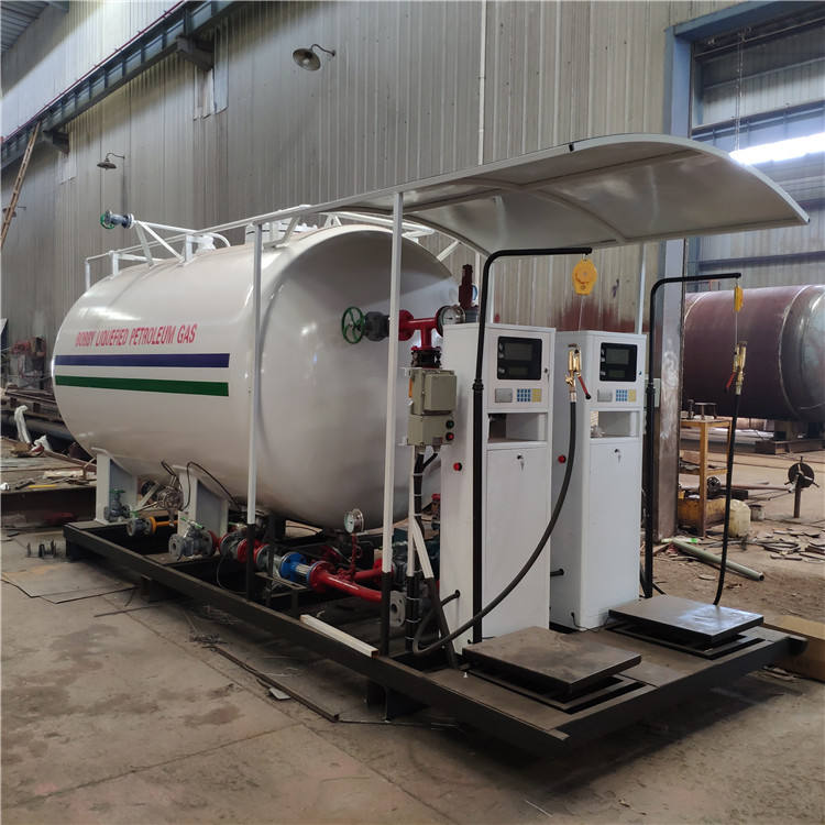 5-10Tons Mobile LPG Filling Station 10,000-20,000Liters Gas Station LPG Filling Plant