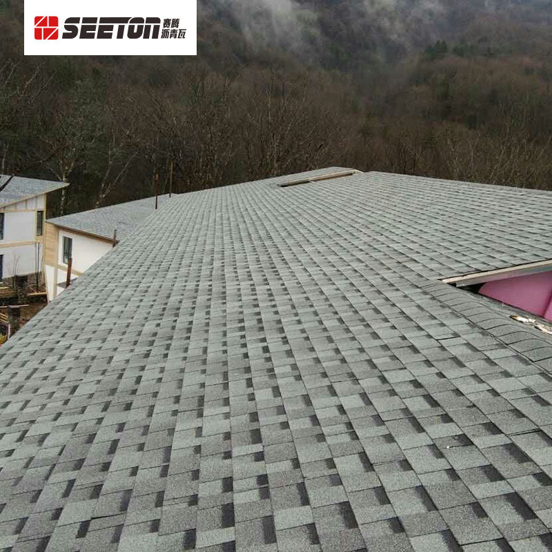 Latest Building Materials , Gray Cheap Laminated Asphalt Shingles Manufacturer