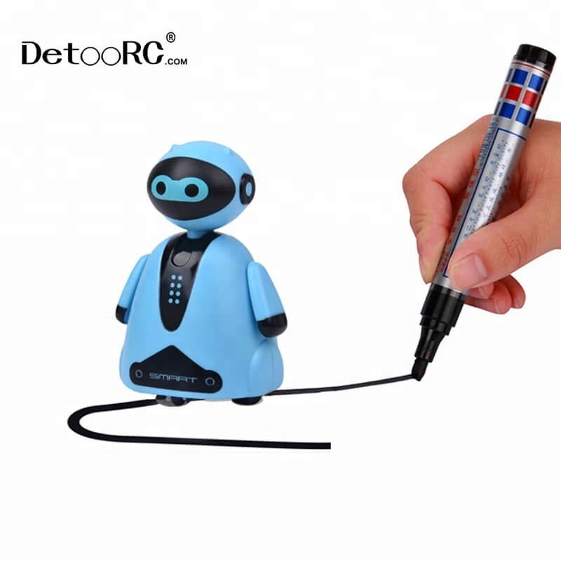 Detoo children gift robot toy kids inductive line follow educational toys hot toys for Christmas 2018