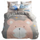 Customized design and patten warm double edition flannel soft bedding set bed sheets duvet cover