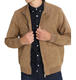 Good Quality Casual Regular Thin 100% Polyester Brown Men Suede Jacket
