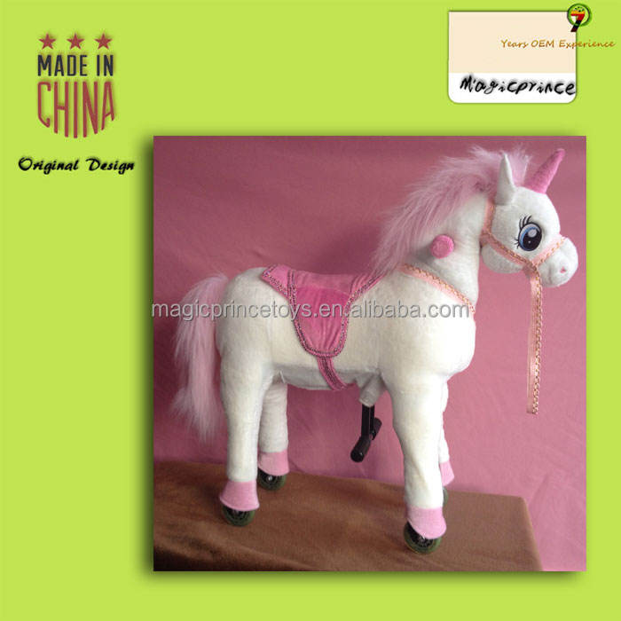 (EN71&ASTM&CE)~(Pass!!)~Dalian China Stuffed & Plush Toy Animal mechanical horse toys for sale Unicorn