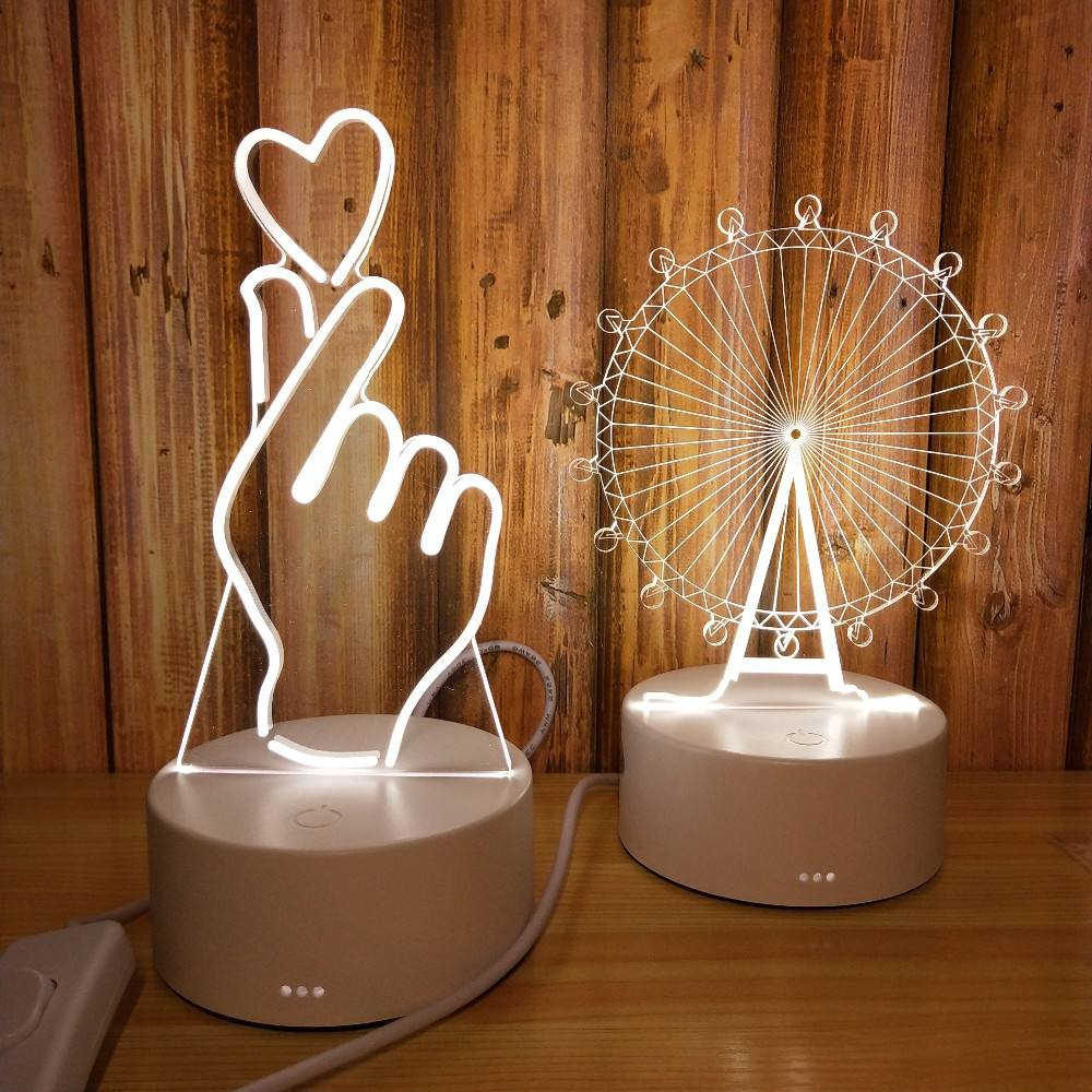 Wholesale 3D Effect Desk Lamp Kids 3D night light Led Table Lamp With switch button