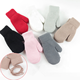 Soft Knit Boys Girls Knitted Gloves Winter Infant Thermal Warm Toddlers Stretch Mittens
