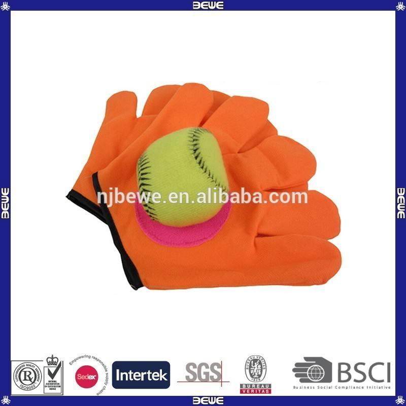 中国製造カスタム手袋形状プラスチックマジックテープがボールゲーム