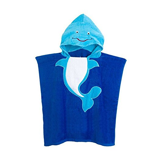 China Suppliers Children Beach Poncho Towel Kids Cartoon Printed Hooded Beach Towel